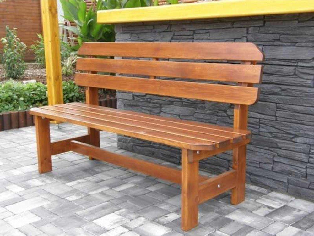 Massivholz Gartenbänke - Rattan-XXL