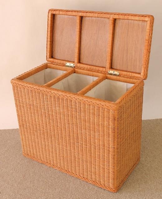 rattan w schesortierer 3 f cher pinie rattan xxl. Black Bedroom Furniture Sets. Home Design Ideas