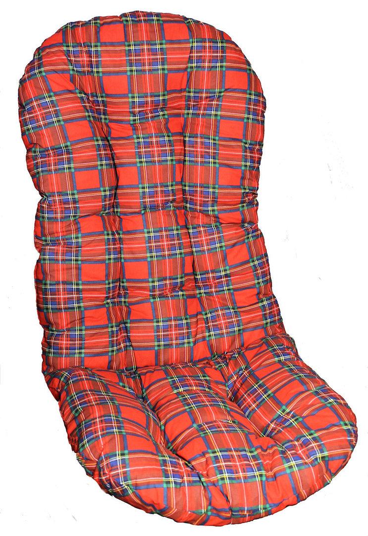 polster f r schaukelstuhl drehsessel 130 cm rot kar rattan xxl. Black Bedroom Furniture Sets. Home Design Ideas