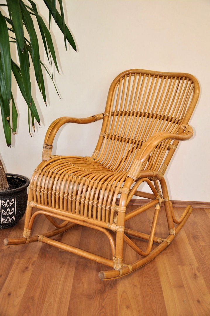 Rattan schaukelstuhl rocking chair fb honig rattan xxl for Schaukelstuhl xxl