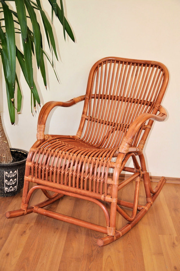 rattan schaukelstuhl rocking chair fb cognac rattan xxl. Black Bedroom Furniture Sets. Home Design Ideas