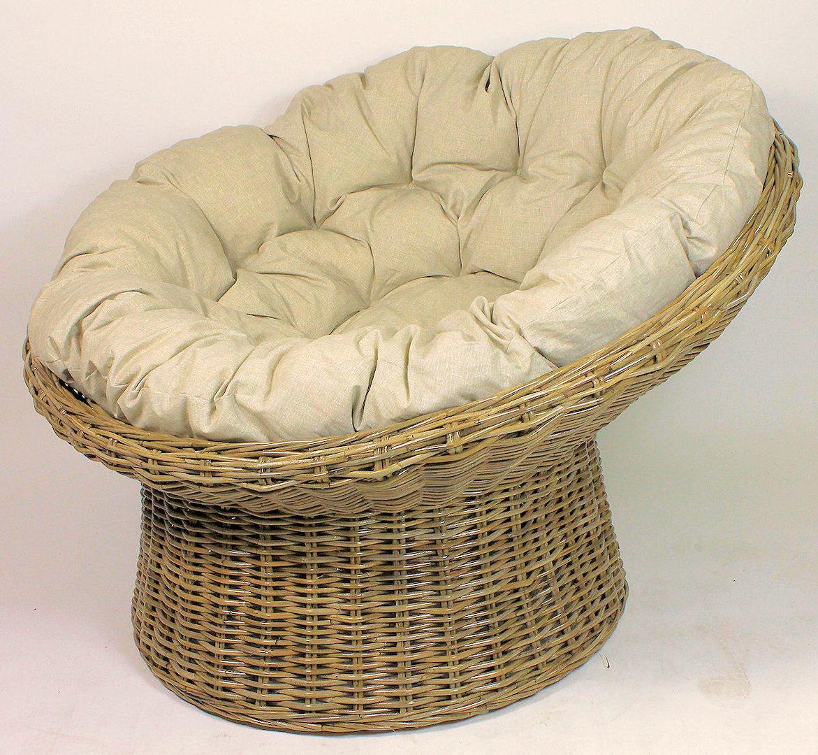 xxl rattansessel papasansessel koobo gray rattan xxl. Black Bedroom Furniture Sets. Home Design Ideas