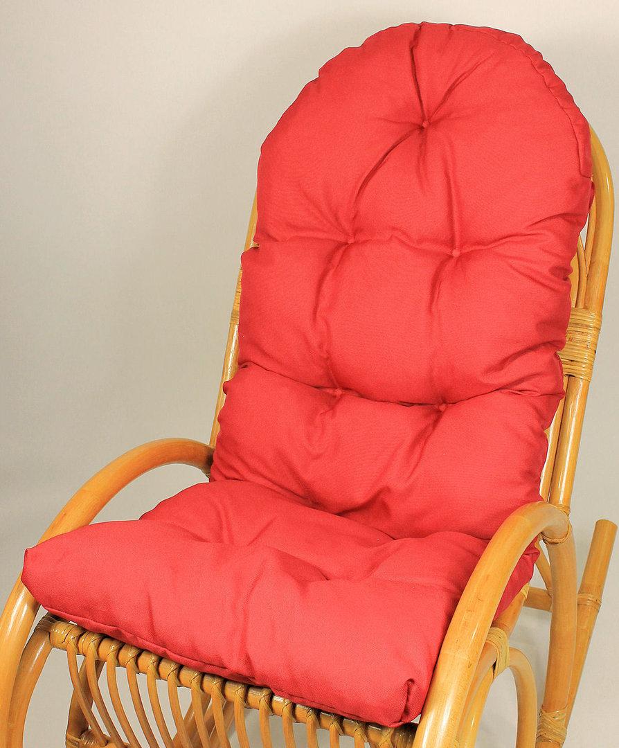 auflage polster f r schaukelstuhl fb rot rattan xxl. Black Bedroom Furniture Sets. Home Design Ideas