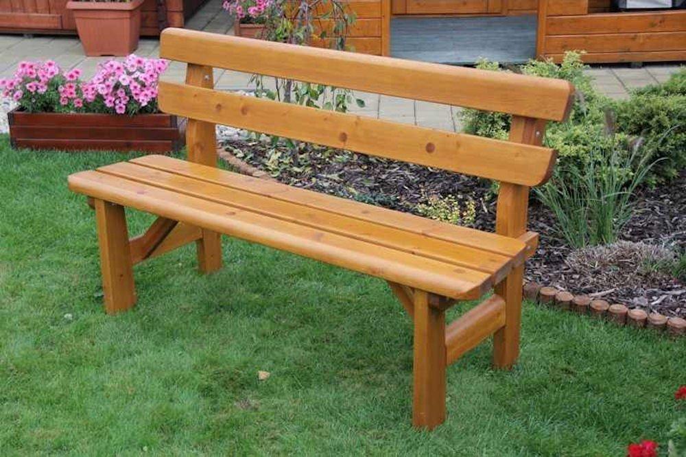 massivholz gartenbank findland kiefer b 151 cm rattan xxl. Black Bedroom Furniture Sets. Home Design Ideas