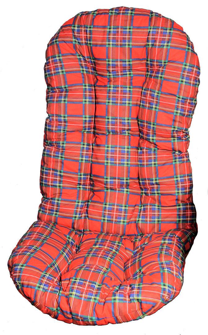Polster f r schaukelstuhl drehsessel 130 cm rot kar for Schaukelstuhl rot