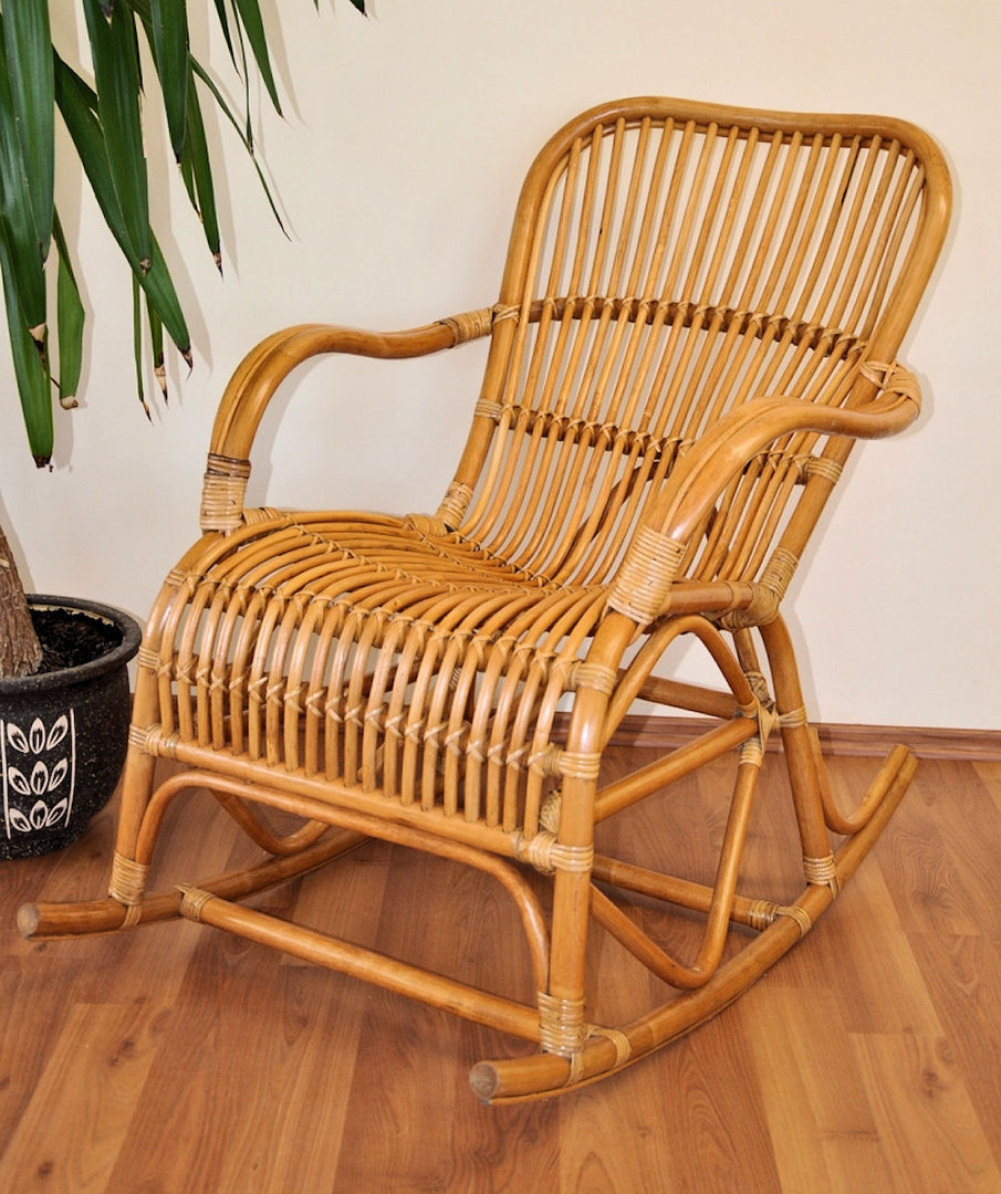 rattan schaukelstuhl rocking chair fb honig rattan xxl. Black Bedroom Furniture Sets. Home Design Ideas