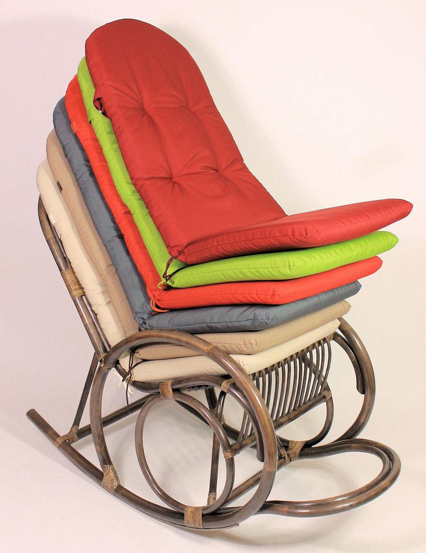 polster f r schaukelstuhl hochlehner sessel rattan xxl. Black Bedroom Furniture Sets. Home Design Ideas