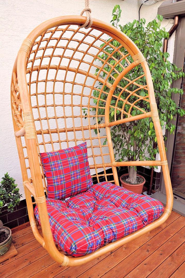 rattan h ngeschaukel h ngesessel inkl polster xl. Black Bedroom Furniture Sets. Home Design Ideas