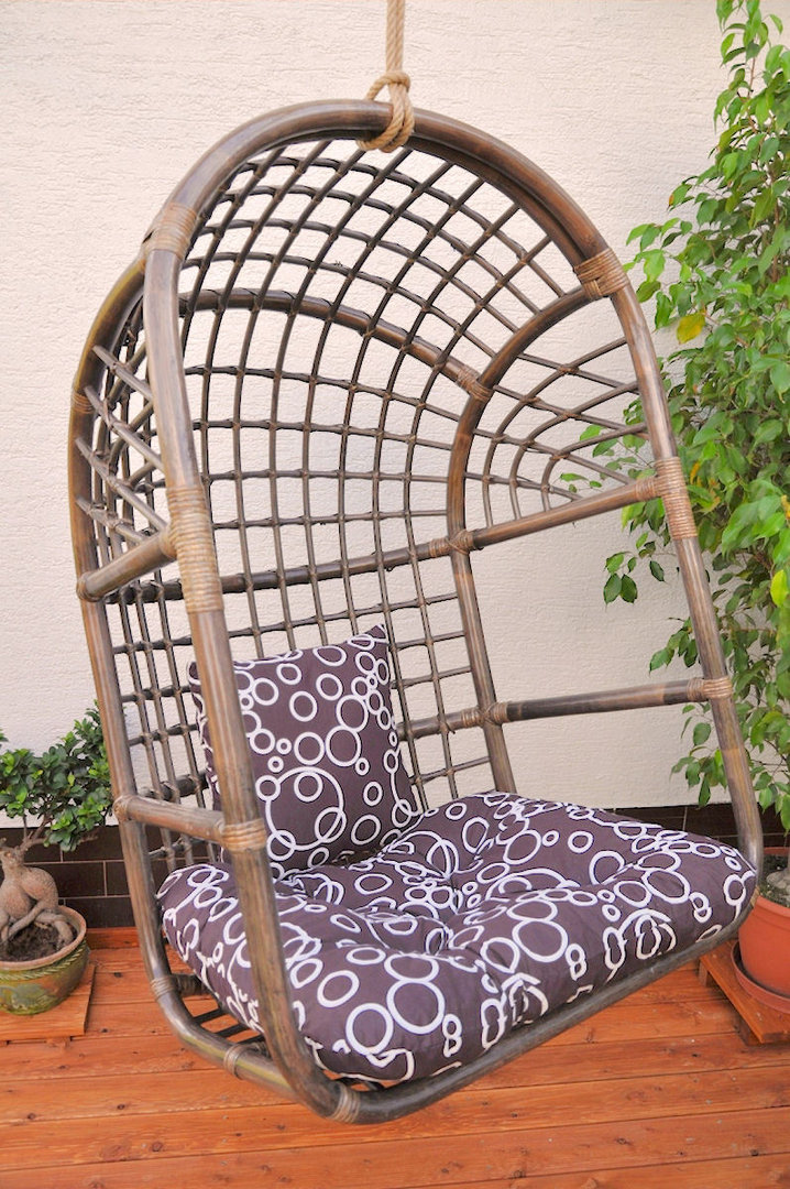 rattan h ngeschaukel h ngesessel inkl polster rattan xxl. Black Bedroom Furniture Sets. Home Design Ideas