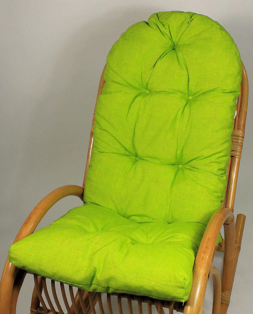 auflage polster f r schaukelstuhl fb hellgr n rattan xxl. Black Bedroom Furniture Sets. Home Design Ideas